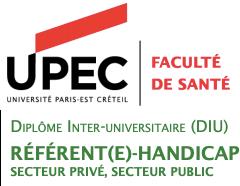 Logo du DU Référent Handicap de l'Université de Paris-Est Créteil